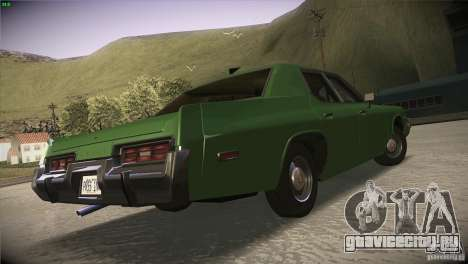Dodge Monaco для GTA San Andreas вид изнутри