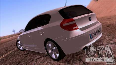 BMW 120i 2009 для GTA San Andreas вид справа