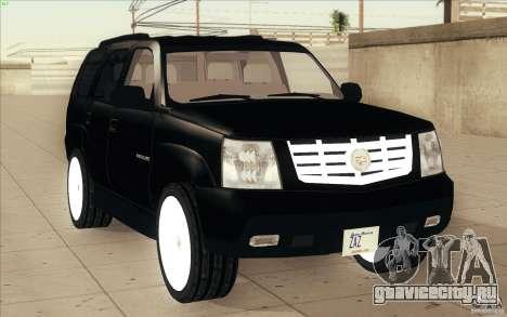Cadillac Escalade 2004 для GTA San Andreas вид сбоку
