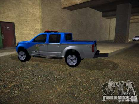Nissan Frontier PMERJ для GTA San Andreas вид сзади