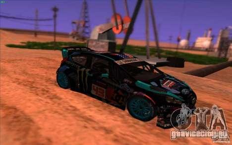 Ford Fiesta H.F.H.V. Ken Block 2013 для GTA San Andreas вид справа