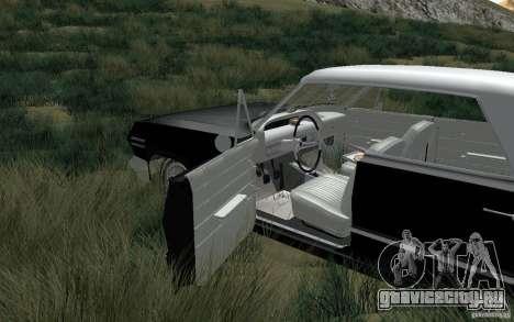 Chevrolet Impala 4 Door Hardtop 1963 для GTA San Andreas вид сзади слева