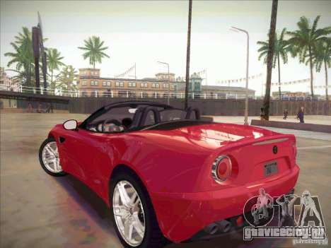 Alfa Romeo 8C Spider для GTA San Andreas вид слева