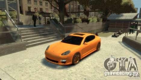PORSCHE Panamera Turbo для GTA 4 вид сзади слева