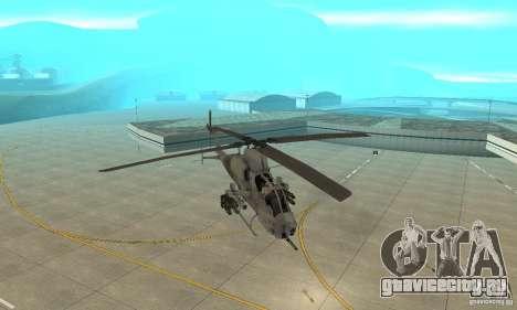 Hunter - AH-1Z Cobra для GTA San Andreas вид сзади