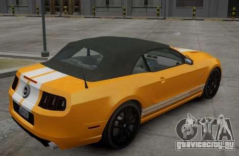 Ford Mustang GT Convertible 2013 для GTA 4 вид справа