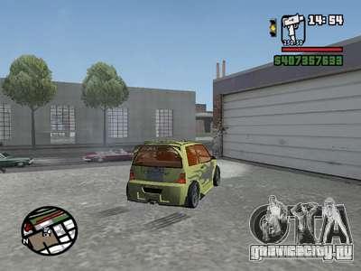 ОКА 1111 (Тюнинг) для GTA San Andreas вид сзади
