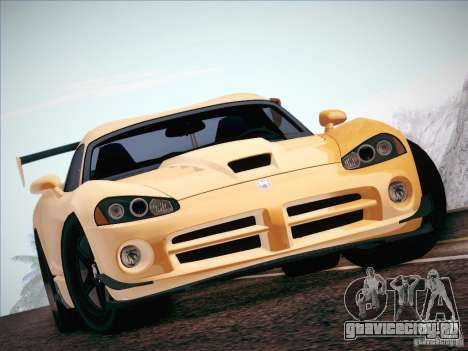 Dodge Viper SRT-10 ACR для GTA San Andreas вид изнутри