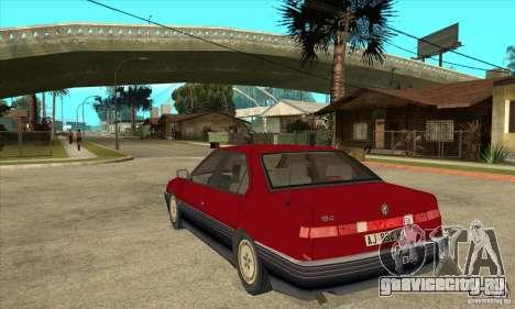 Alfa Romeo 164 для GTA San Andreas вид сзади слева