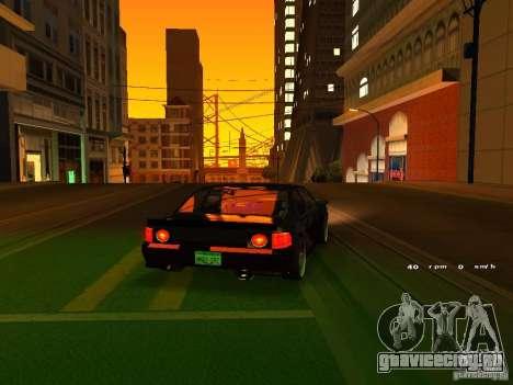 New Sultan для GTA San Andreas вид сзади