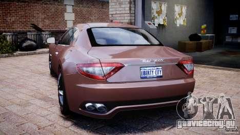 Maserati GranTurismo v1.0 для GTA 4 вид сзади слева
