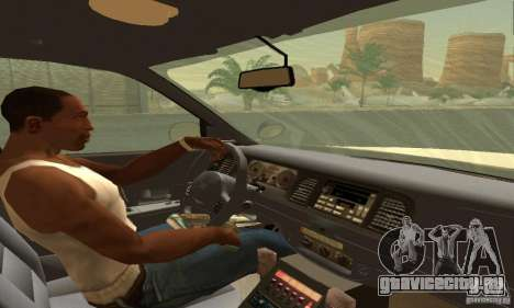 Ford Crown Victoria Texas Police для GTA San Andreas вид сзади слева