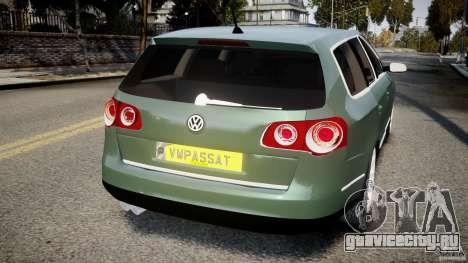 Volkswagen Passat Variant R50 для GTA 4 вид сзади слева