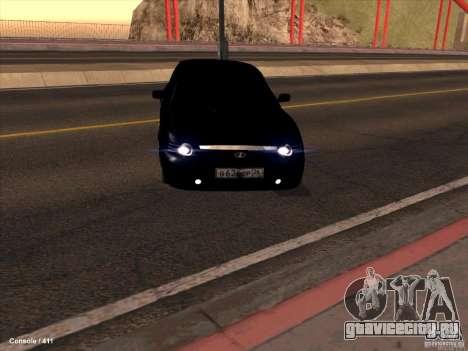 Lada 2170 Priora для GTA San Andreas вид сзади слева