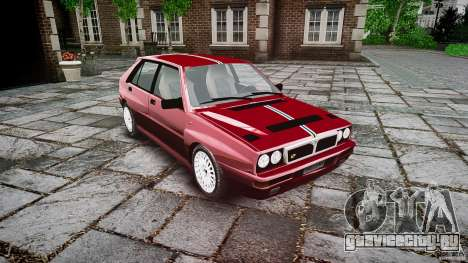 Lancia Delta HF Integrale Dealers Collection для GTA 4 вид справа