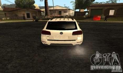 Volkswagen Touareg Dag Style для GTA San Andreas вид сзади слева