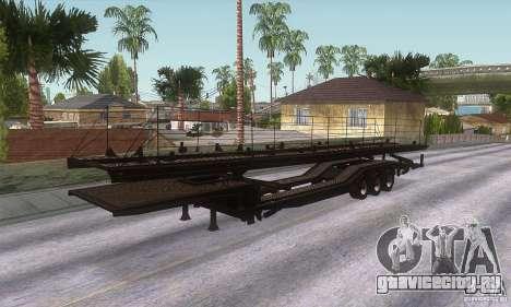 Прицеп-автовоз для GTA San Andreas вид сзади слева