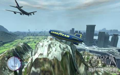 Дирижабль для GTA 4 вид изнутри