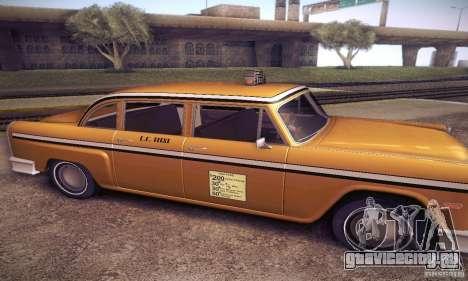 Cabbie HD для GTA San Andreas вид слева