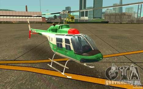 Bell 206 B Police texture3 для GTA San Andreas вид слева