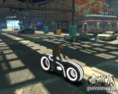 Мотоцикл из Трон (серый неон) для GTA 4 вид справа