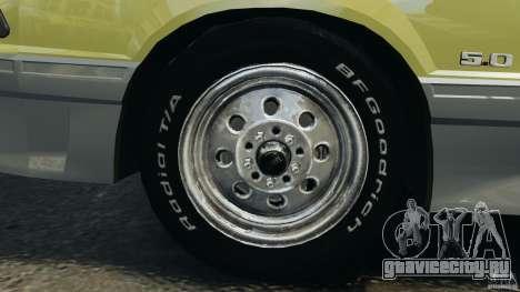 Ford Mustang GT 1993 v1.1 для GTA 4 вид сверху