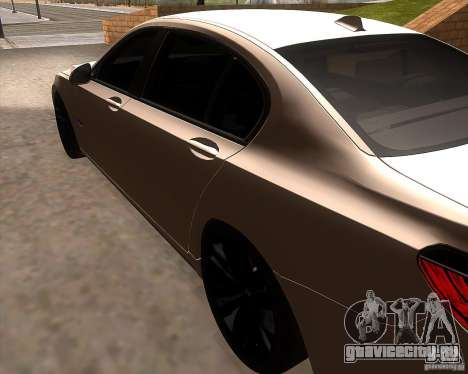 BMW 750Li 2010 для GTA San Andreas вид сзади слева