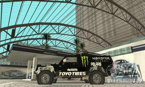Hummer H3 Baja Rally Truck для GTA San Andreas вид сзади слева