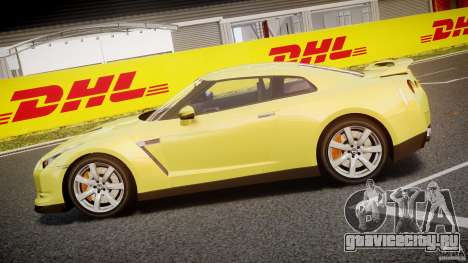 Nissan GT-R R35 2010 v1.3 для GTA 4 вид слева