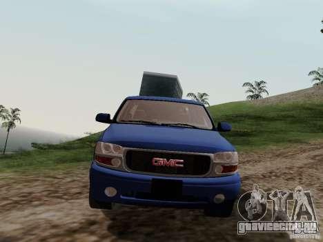GMC Yukon Denali XL для GTA San Andreas вид сзади