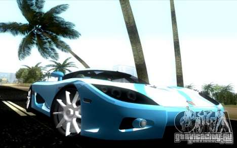 Koenigsegg CCX для GTA Vice City вид справа
