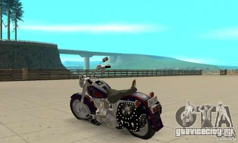 Harley Davidson FLSTF (Fat Boy) v2.0 Skin 4 для GTA San Andreas вид сзади слева