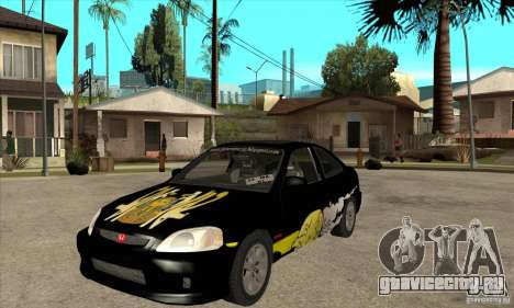 Honda Civic Tuning Tunable для GTA San Andreas