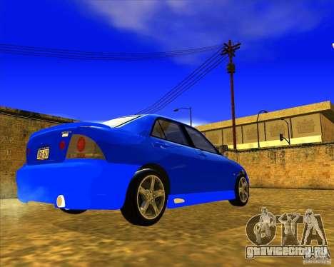 Toyota Altezza RS200 1998 для GTA San Andreas вид сзади слева