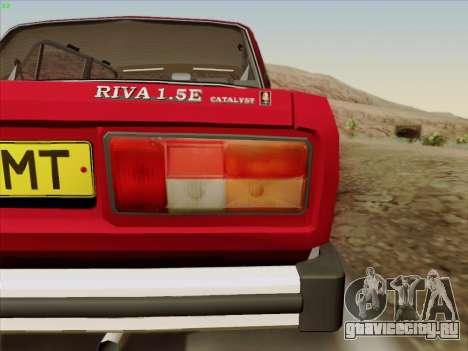 Lada 2105 RIVA (Экспортная) 2.0 для GTA San Andreas вид сбоку