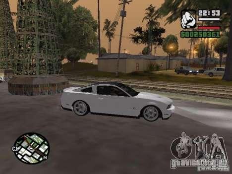 Ford Mustang GT B&W для GTA San Andreas вид справа