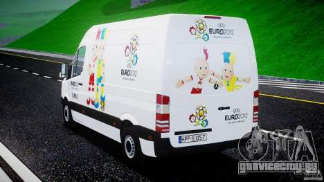 Mercedes-Benz Sprinter Euro 2012 для GTA 4 вид сбоку