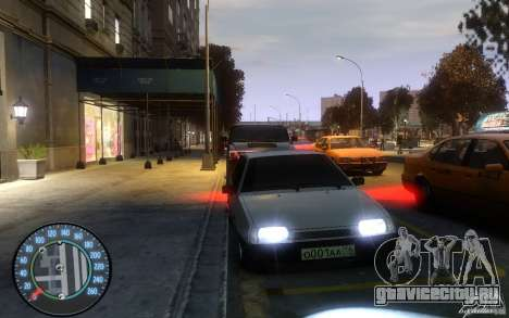 ВАЗ 2109 Дагестанский тюнинг для GTA 4 вид слева