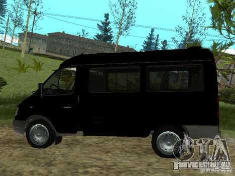 ГАЗ 2217 ФСБ для GTA San Andreas вид сзади слева