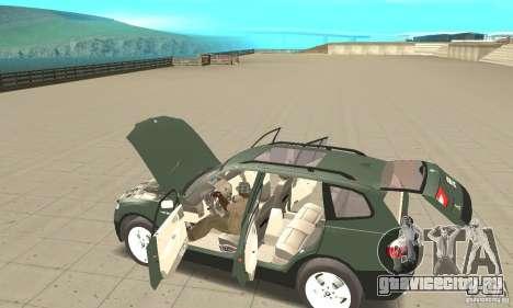 BMW X3 2.5i 2003 для GTA San Andreas вид сверху