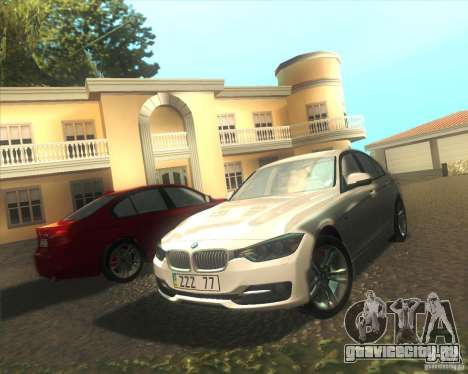 BMW 3 Series F30 2012 для GTA San Andreas вид сбоку