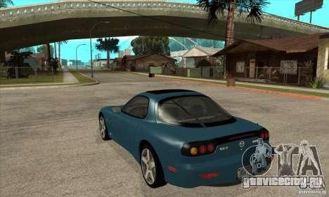 Mazda RX-7 - Stock для GTA San Andreas вид сзади слева