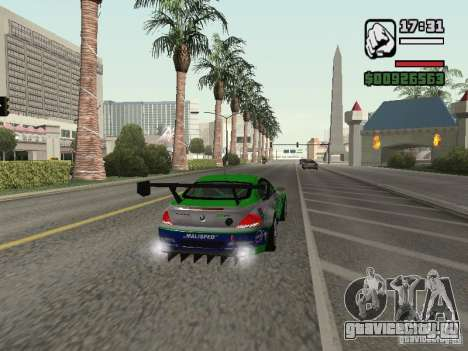 Alpina B6 GT3 для GTA San Andreas вид сзади