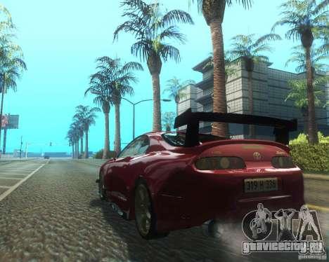 Toyota Supra Light Tuned для GTA San Andreas вид сзади слева