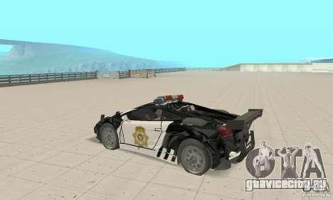 Lamborghini Gallardo Cop V1.0 для GTA San Andreas вид справа