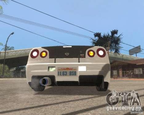 Nissan Skyline R-34 TUNED для GTA San Andreas вид справа