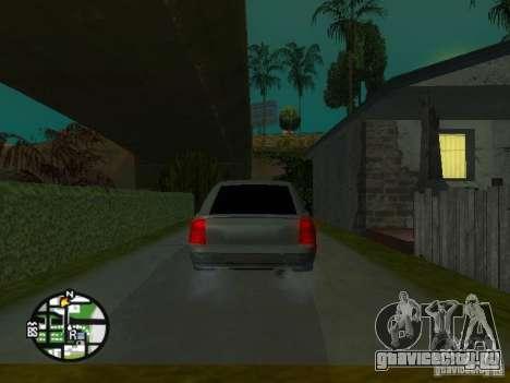 Ваз 2172 Приора для GTA San Andreas вид снизу