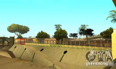 Забор вокруг Groоve Sreet для GTA San Andreas пятый скриншот