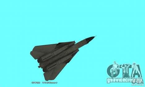 F14W Super Weirdest Tomcat Skin 2 для GTA San Andreas вид сбоку