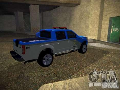 Nissan Frontier PMERJ для GTA San Andreas вид сзади слева